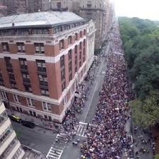 400,000 people attended the march in New York City.