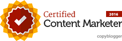 Copyblogger Certified Content Marketer 2016