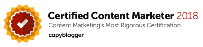 Copyblogger Certified Content Marketer 2018